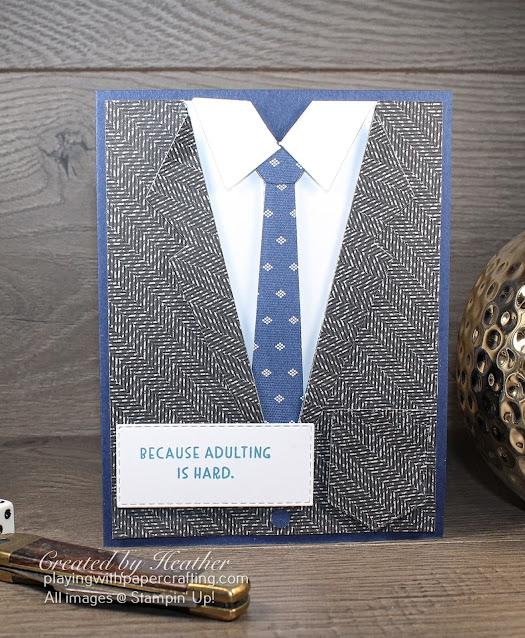 mullet card with suit & ties dies 6