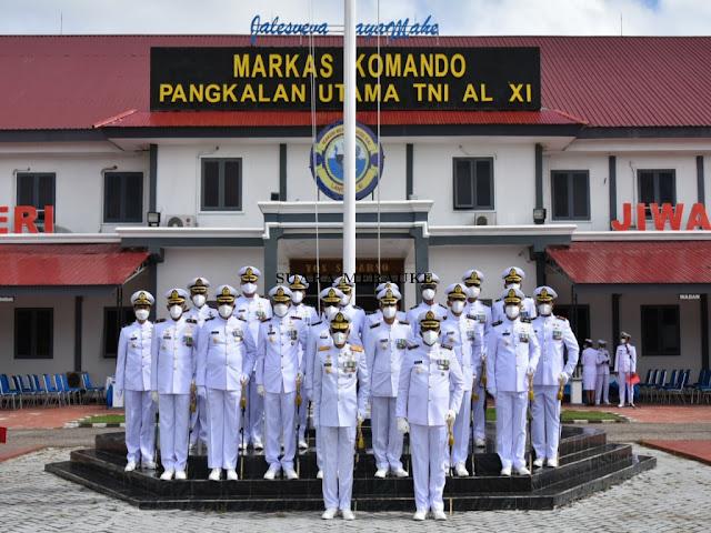 Wurjanto Pimpin Perayaan HUT ke-76 TNI AL di Lantamal XI Merauke.lelemuku.com.jpg
