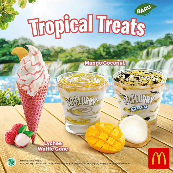 McDonalds Tropical Treats Menu WaffleTerbaru dari McD*