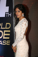 Chandini Chowdary in white Tight dress at Shamanthakamani pre release function ~  Exclusive 021.JPG