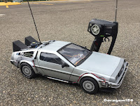 Miniatura r/c body handmade Delorean de controle remoto Back to the Future - De Volta para o Futuro