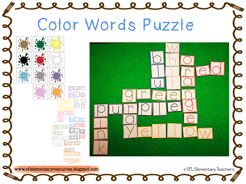 EFL Elementary Teachers: Color Theme for Elementary ESL/EFL/ELL-part 2