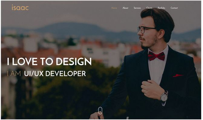 Giao diện blogger Isaac Blogger Template