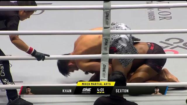 ARIEL SEXTON Defeats AMIR KHAN Via Submission (RNC)