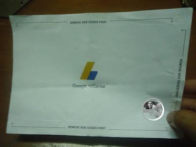Tampilan surat PIN Google Adsense bagian belakang.