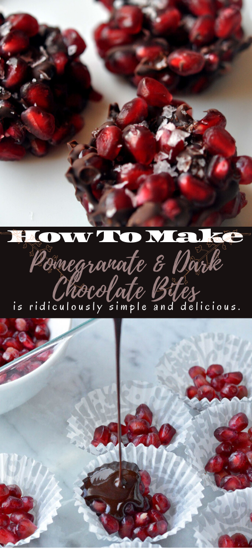 Pomegranate & Dark Chocolate Bites #desserts #cakerecipe #chocolate #fingerfood #easy
