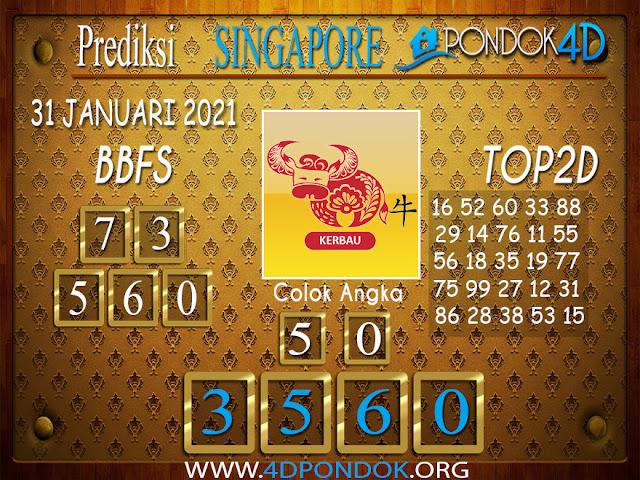 Prediksi Togel SINGAPORE PONDOK4D 31 JANUARI 2021