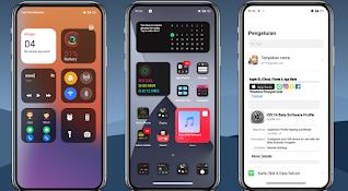 Download Tema iOS 14  Dark Signal 5G Untuk Realme C2, C3 dan C15