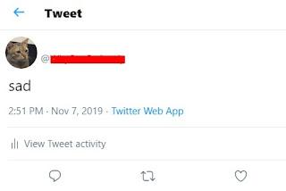 Cara Membuat Nama Twitter Kosong
