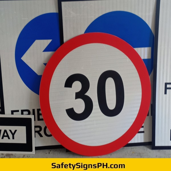 Speed Limit 30 Round Signage