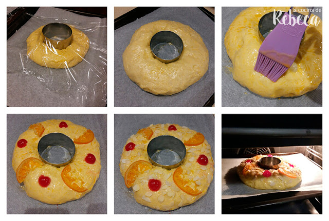Receta de roscón de Reyes: decoración