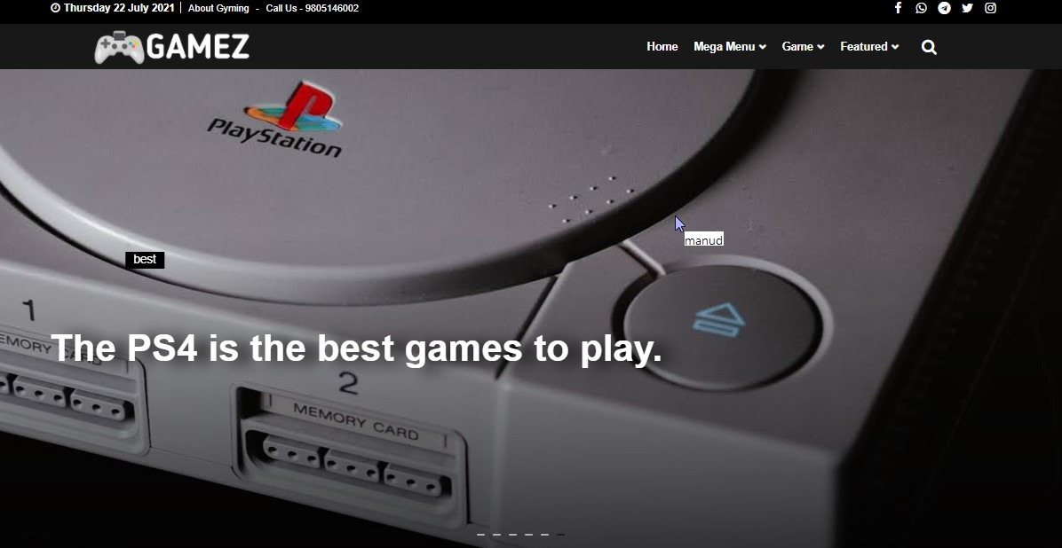 Game Blogger Template