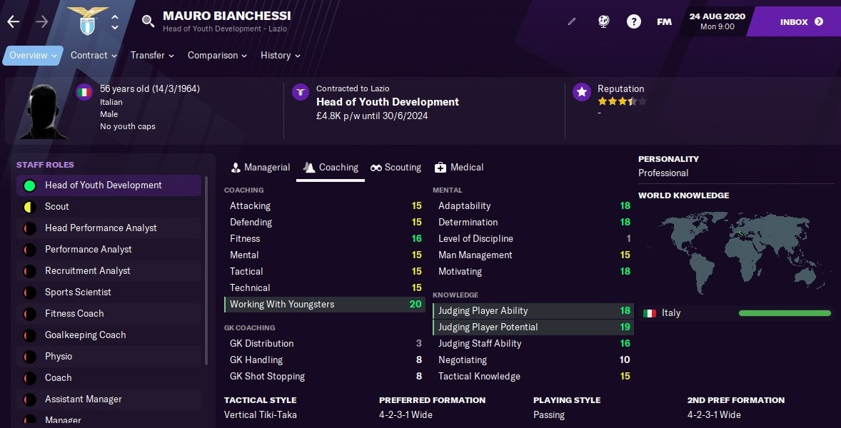 Mauro Bianchessi Football Manager