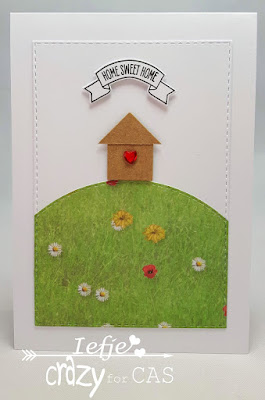Handmade greeting card New home