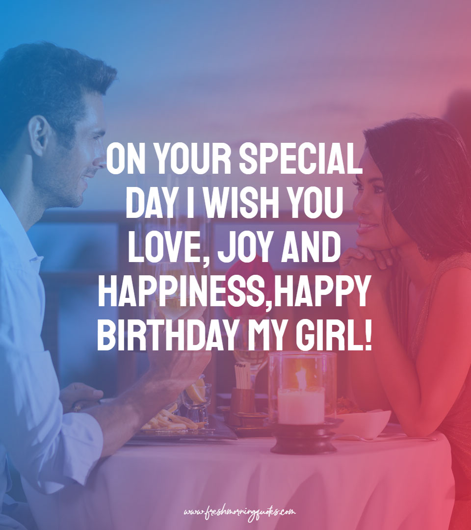 on your special day i wish you love and joy