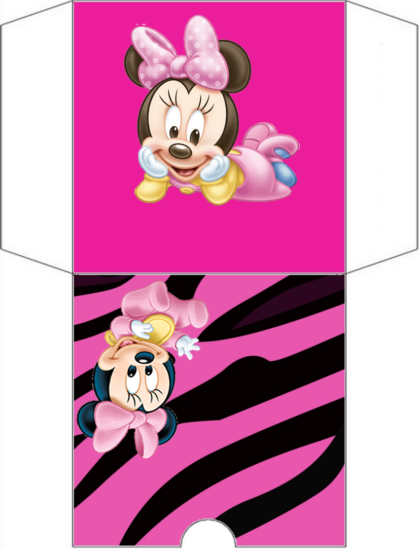 Minnie Zebra in Pink Free Printable Candy Bar Labels.