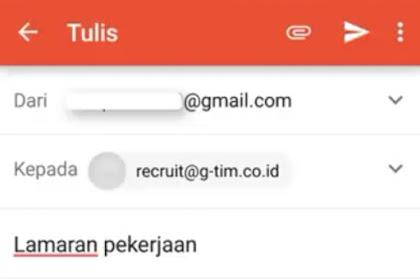 Contoh Mudah Cara Melamar Pekerjaan Lewat Email Hp