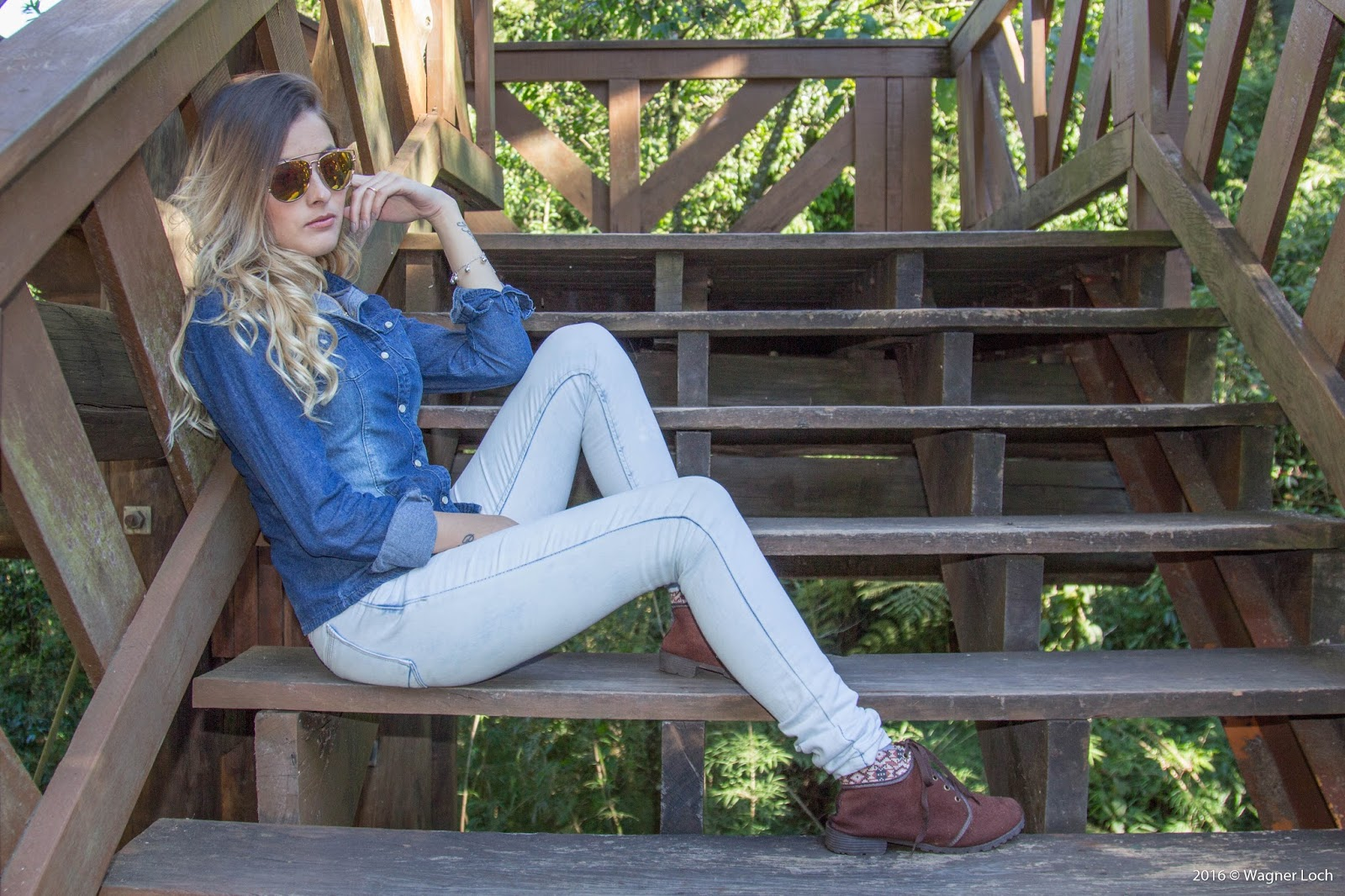 Look jeans com jeans- ally arruda