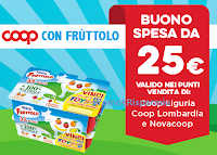 Logo Concorso ''Vinci la spesa Coop con Fruttolo'': in palio buoni spesa da 25€! Anticipazione