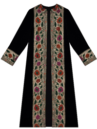 Black Silk Velvet Paithani Jacket