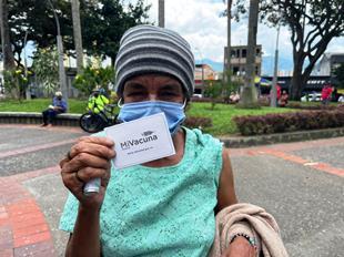 Inició vacunación contra el Covid para habitantes de calle en Pereira