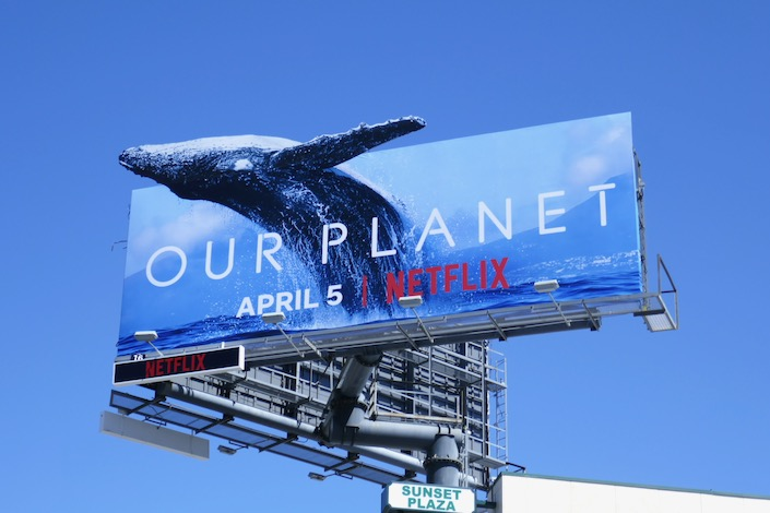 Whale Our Planet billboard