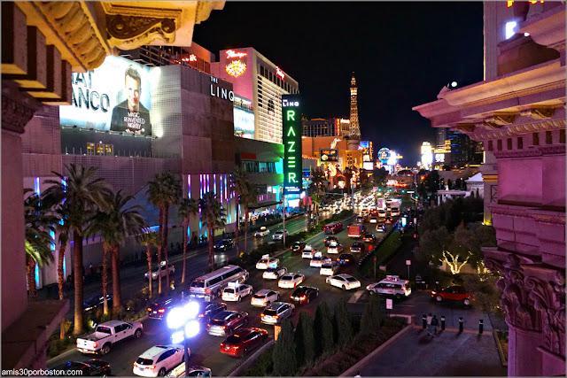 Vistas desde Sushi Roku en Las Vegas, Nevada