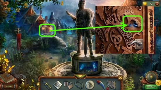 волчий клык вставляем в дверях и открываем в игре наследник 3 дерево силы