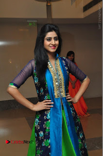 Actress Model Shamili Sounderajan Pos in Desginer Long Dress at Khwaaish Designer Exhibition Curtain Raiser  0032.JPG
