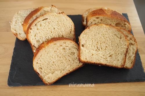 パンのおと、蜂蜜トーストのカット