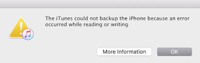itunebackuperror itunes could not backup the iphone because an error occurred while reading from or writing. Technology