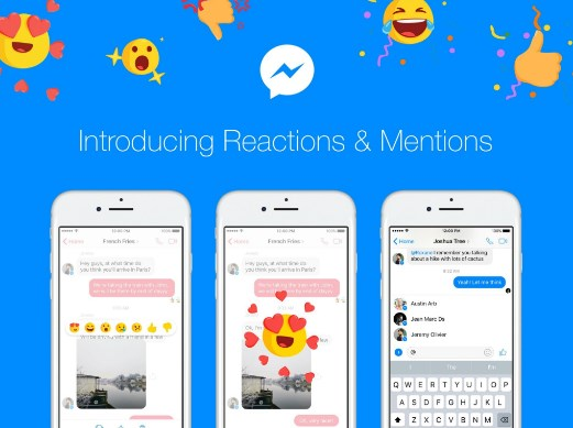 facebook messenger reactions iphone