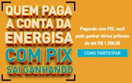 Cadastrar Promoção Pague Com Pix Energisa 2021 Sorteios de Prêmios