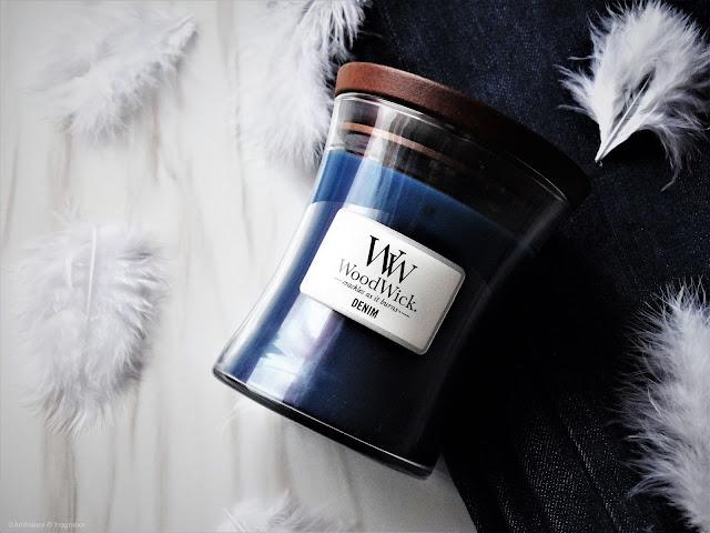 Avis Denim de Woodwick - blog bougie - blog parfum