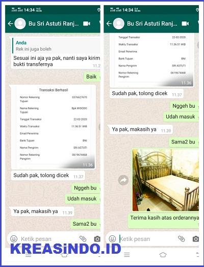 Begini penampakan Ranjang Stainless yang di pesan Oleh Bu Sri di Koja Jakarta Utara