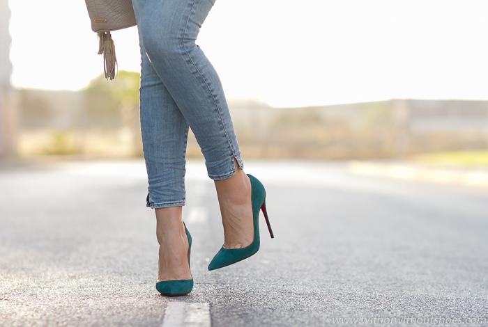 Blogger influencer adicta a los zapatos look como combinar louboutins