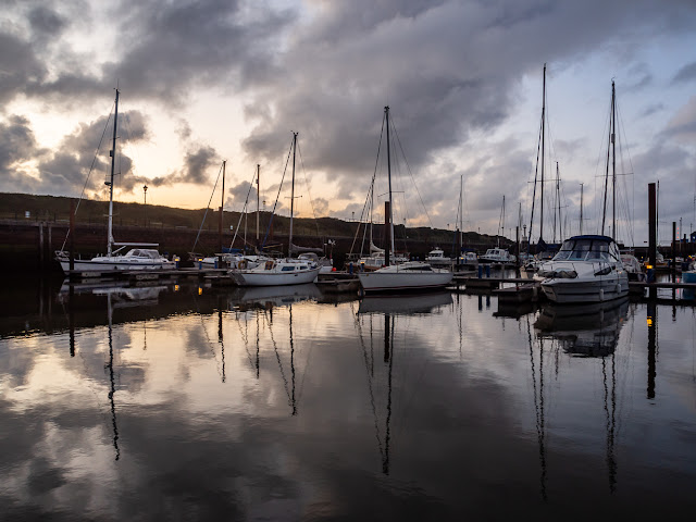 Photo of sunset at Maryport Marina
