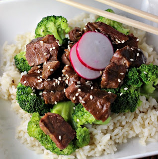 Image of Slow Cooker Beef and Broccoli on Renee's Kitchen Adventures