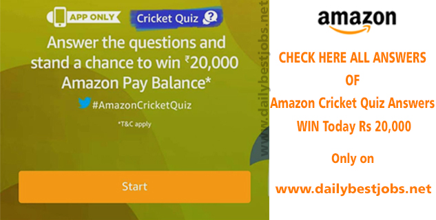 AMAZON Cricket Quiz ANSWERS Today to Win