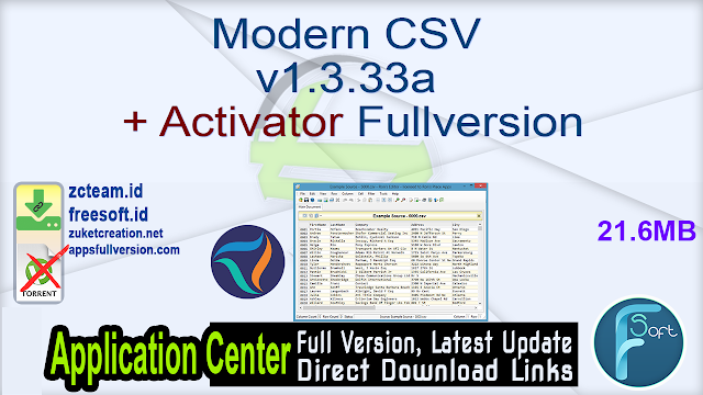 Modern CSV v1.3.33a + Activator Fullversion