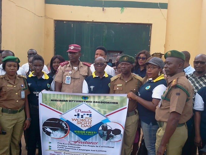 WSD: Anambra Optometrists offer free eye care to Inmates