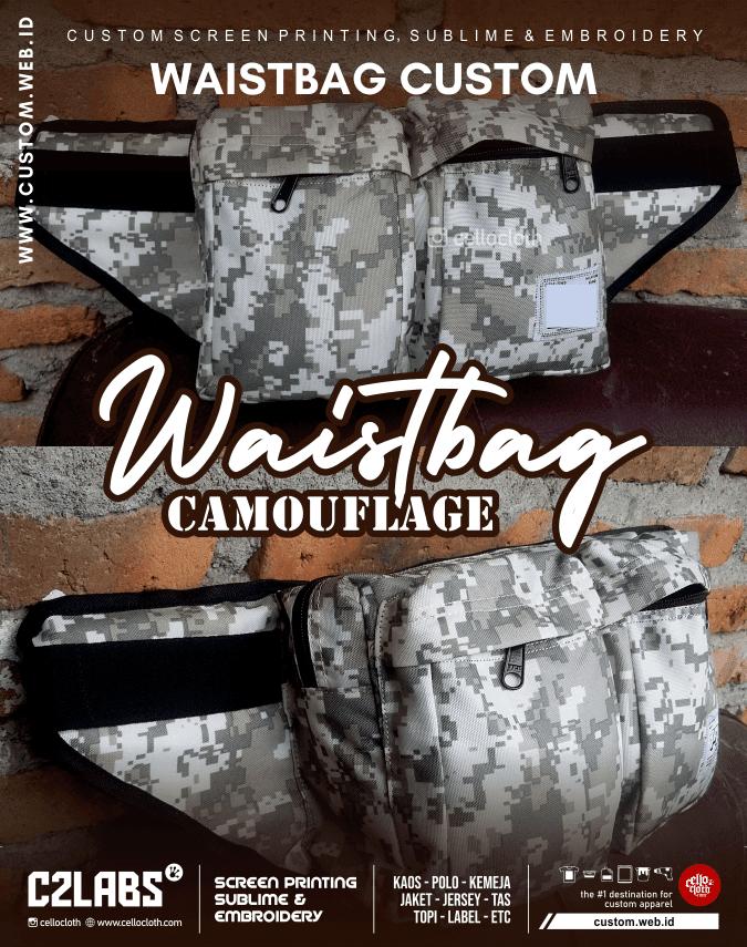 Bikin Waistbag Loreng Army Camouflage - Konveksi Tas Jogja