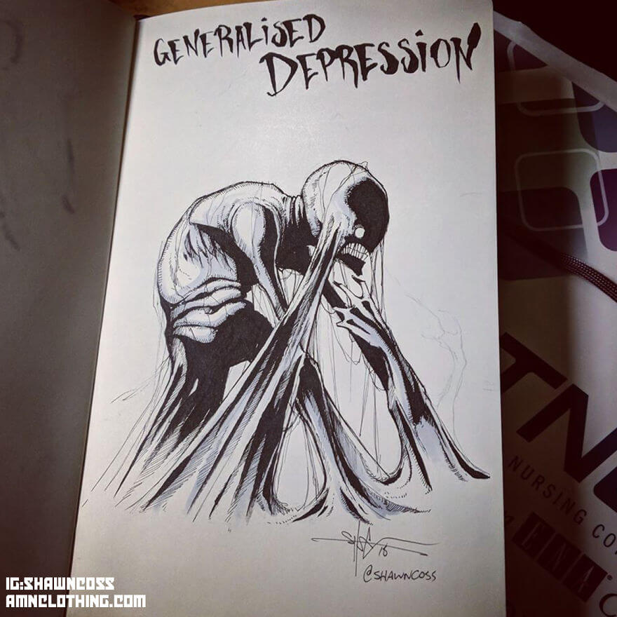 Artist Illustrates Mental Illness And Disorders To Rid Them Of Stigma
