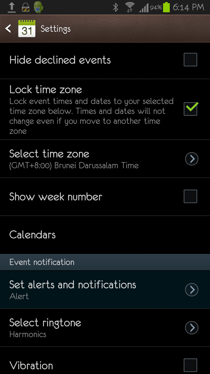 Samsung S Planner or Calendar issue - No notification or alert