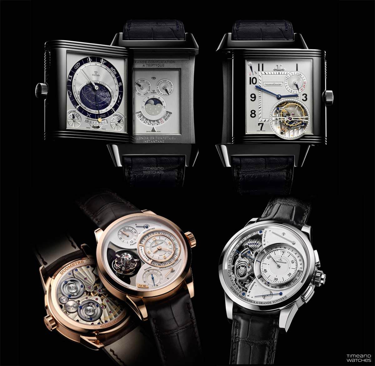 d50b32d4e79 From top and clockwise  Reverso Grande Complication à Triptyque