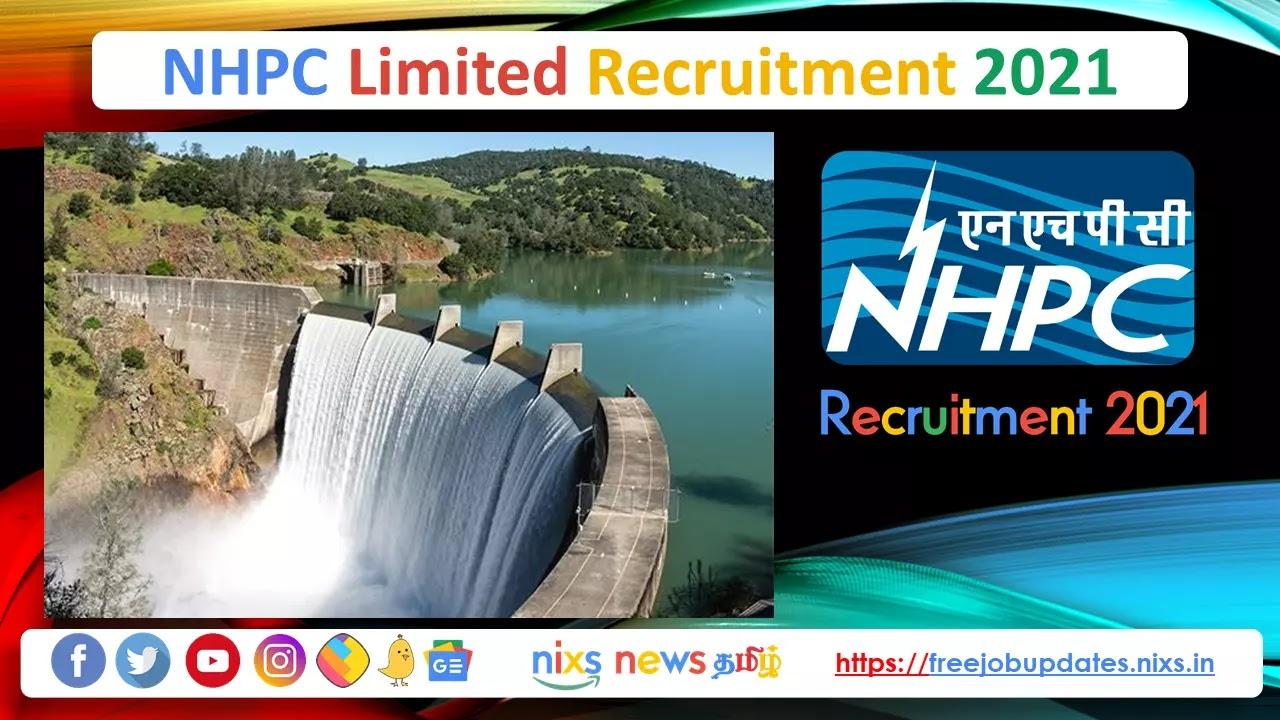 NHPC Recruitment 2021 173 JE Posts - Apply Online