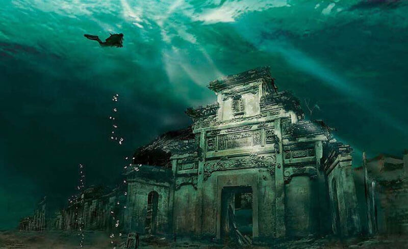32 Stunning Places on Earth You Should Visit Before You Die - Underwater city in Shicheng, China