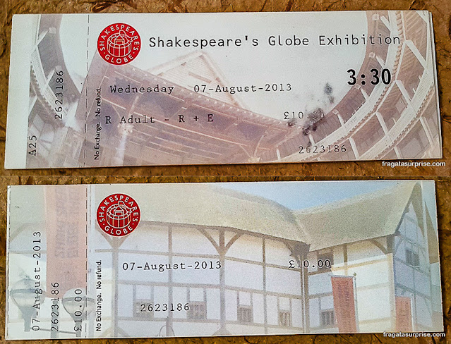 Ingresso para o Teatro Globe, Londres