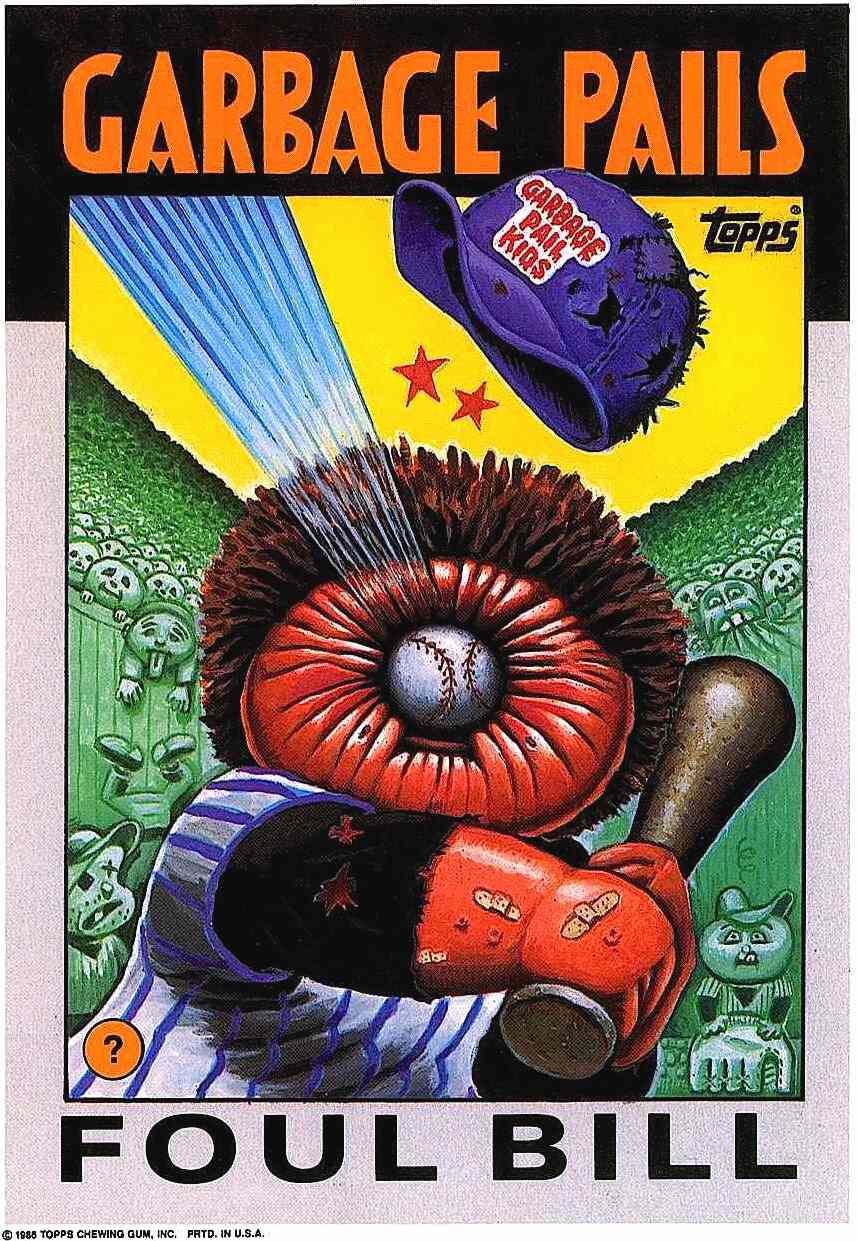 1980s Garbage Pail Kids by Art Spiegelman, foul bill for Topps, Will Elder