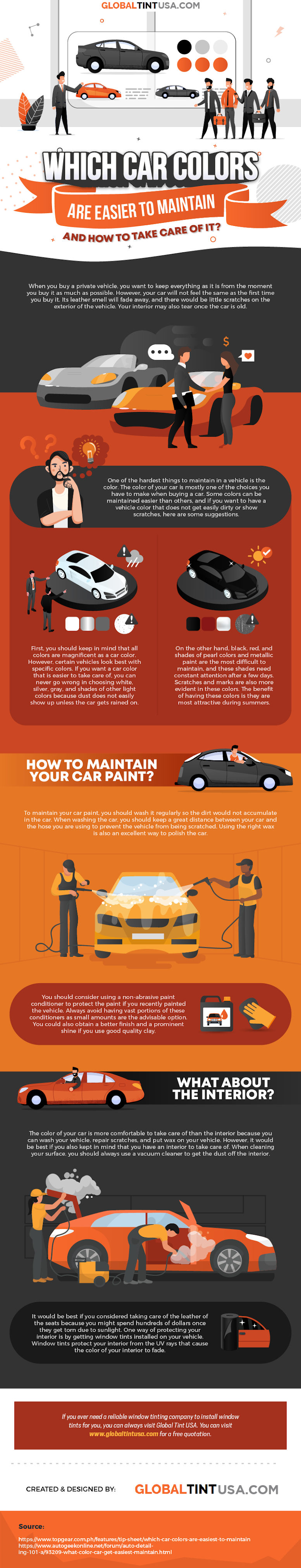 Which Car Colors Are Easier to Maintain and How to Take Care of It? #infographic